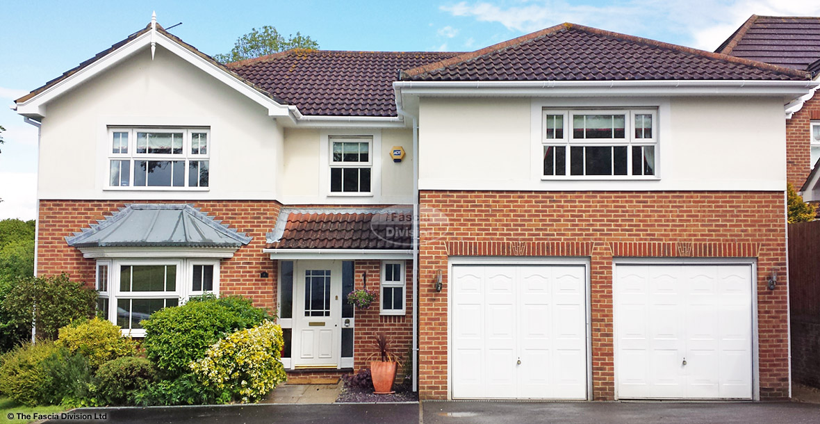 White UPVC fascias, soffits and guttering