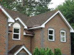 White UPVC fascia and bargeboard