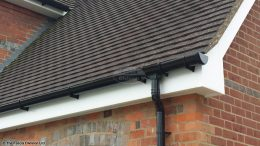 Black deep flow guttering