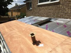 Lean to conservatory roof replacement with insulation