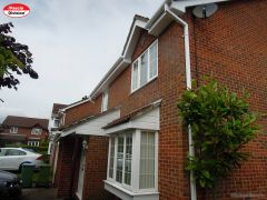 White UPVC fascia, white soffit with white square guttering