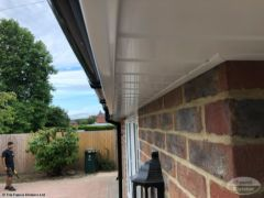 UPVC tongue and groove soffit